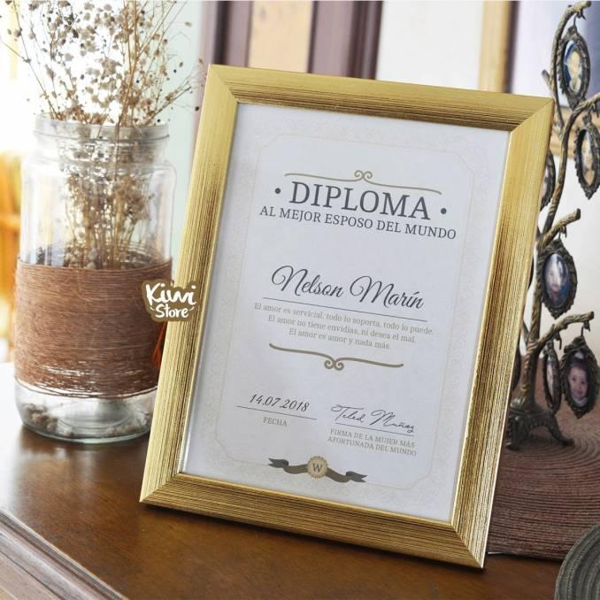"Diploma ""Al mejor esposo..."