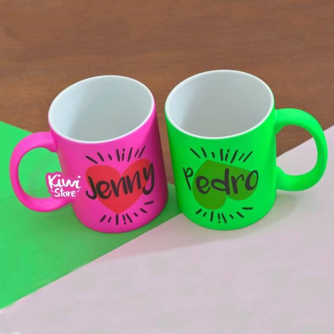 """Mugs """"King & Queen + Nombres"""""""