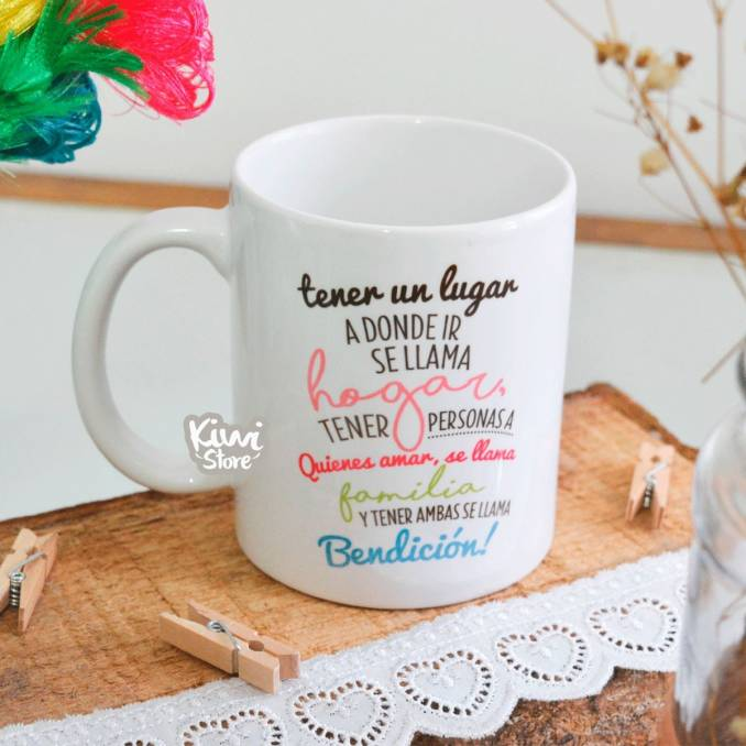 """Mug """"Tener hogar y familia..."""