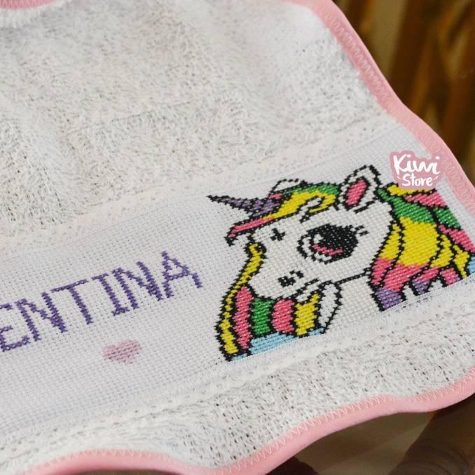 """Babero """"Unicornio"""" + Nombre"""