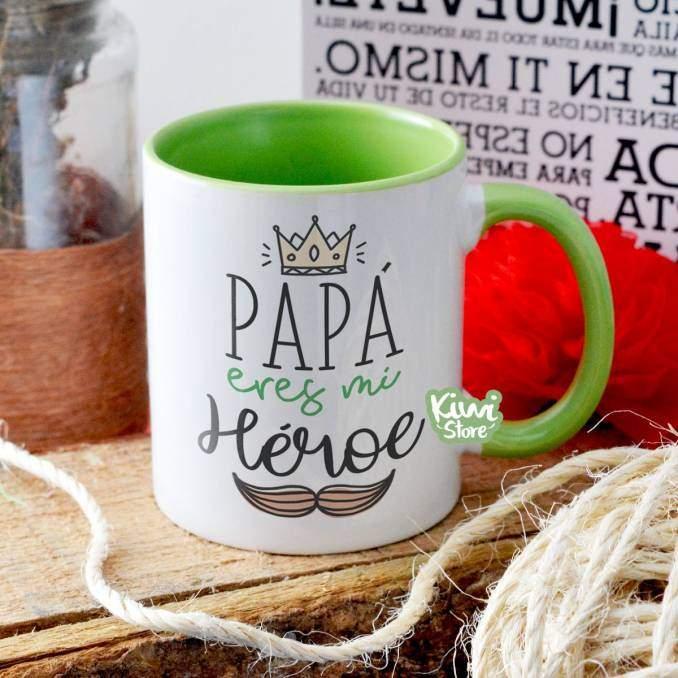 """Mug """"Papá eres mi héroe"""""""