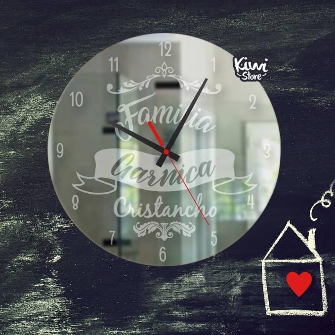 """Reloj """"Mi familia - Elegante"""""""
