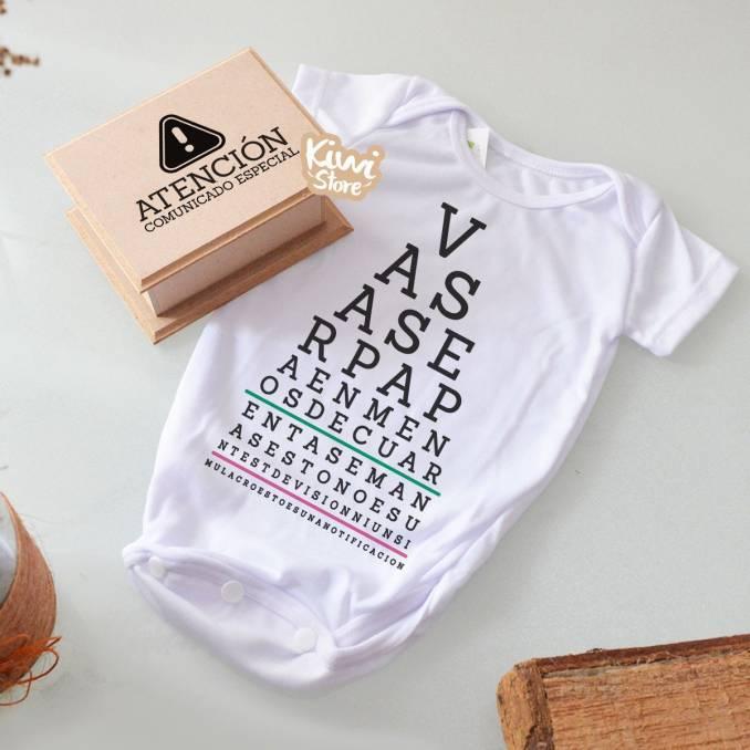 "Mameluco ""Test de visión"" +..."