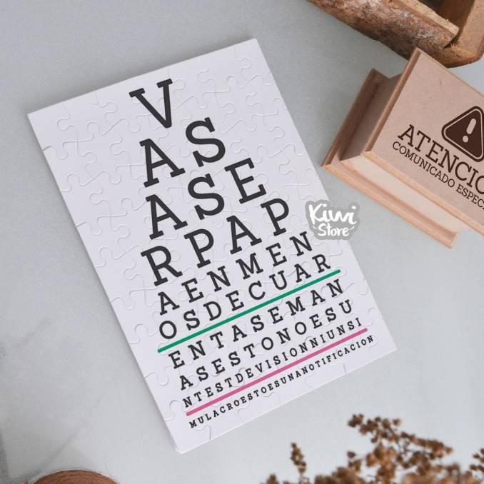 """Rompecabezas """"Test de visión"""""""