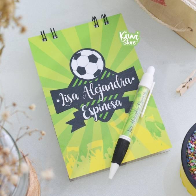 """Libreta """"Amante del fútbol"""""""