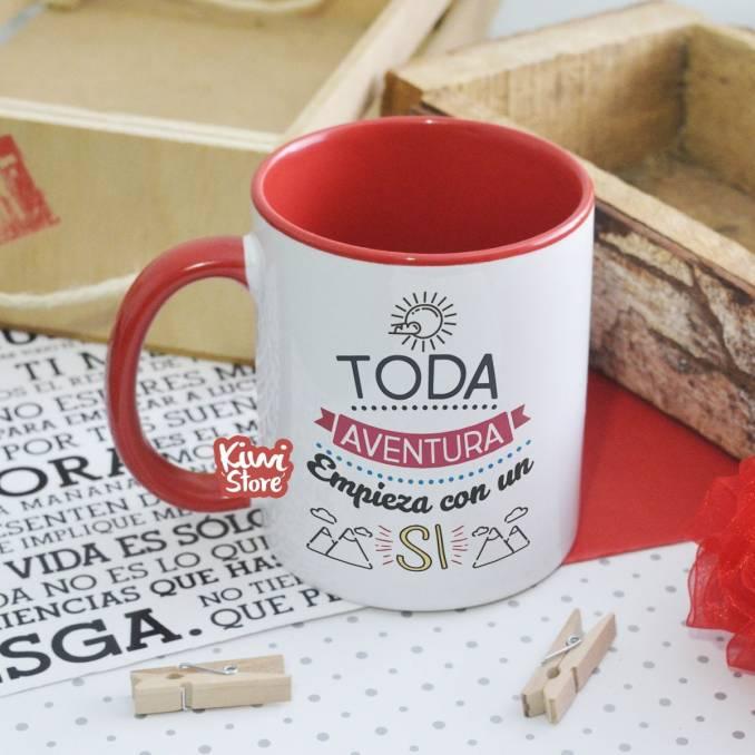"Mug ""Toda aventura comienza..."