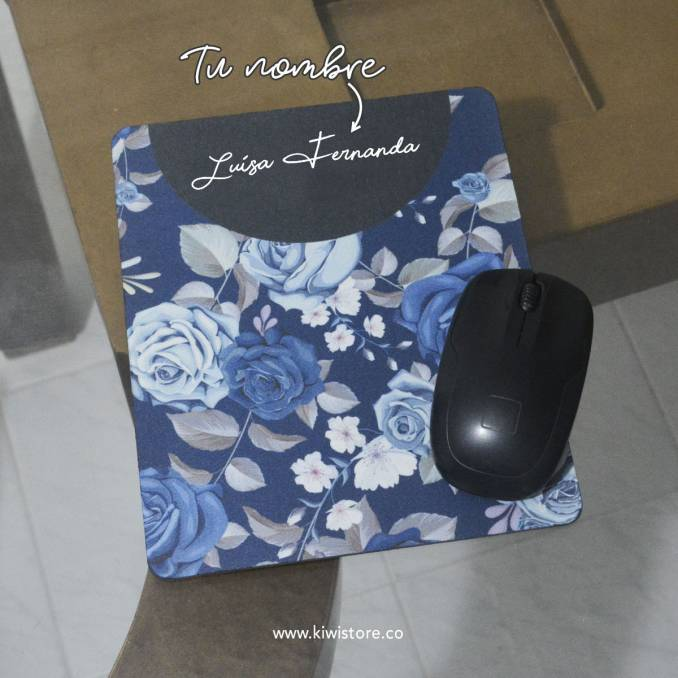 Mouse Pad - Flores azules