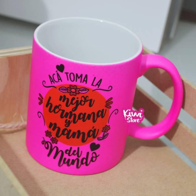 """Mug """"Hermana y mamá"""""""
