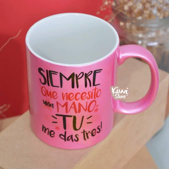 """Mug """"Tu me das tres"""""""
