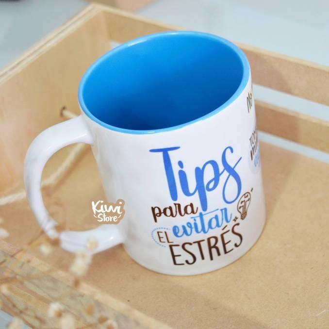 "Mug ""Tips para evitar el..."