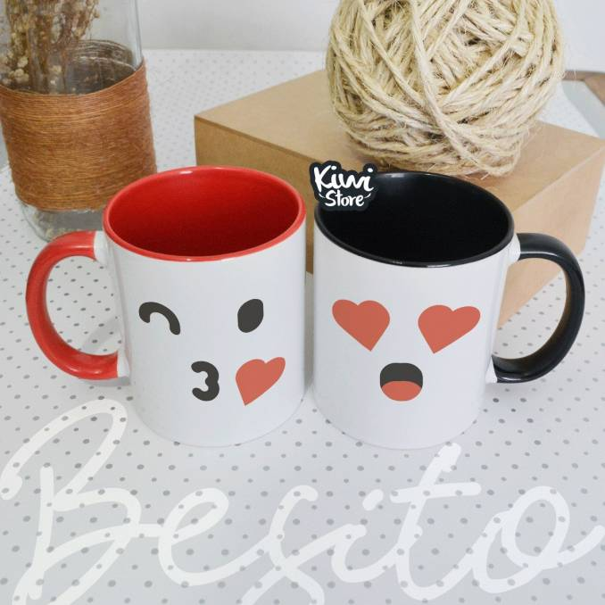 "Mugs ""Emojis besito"""